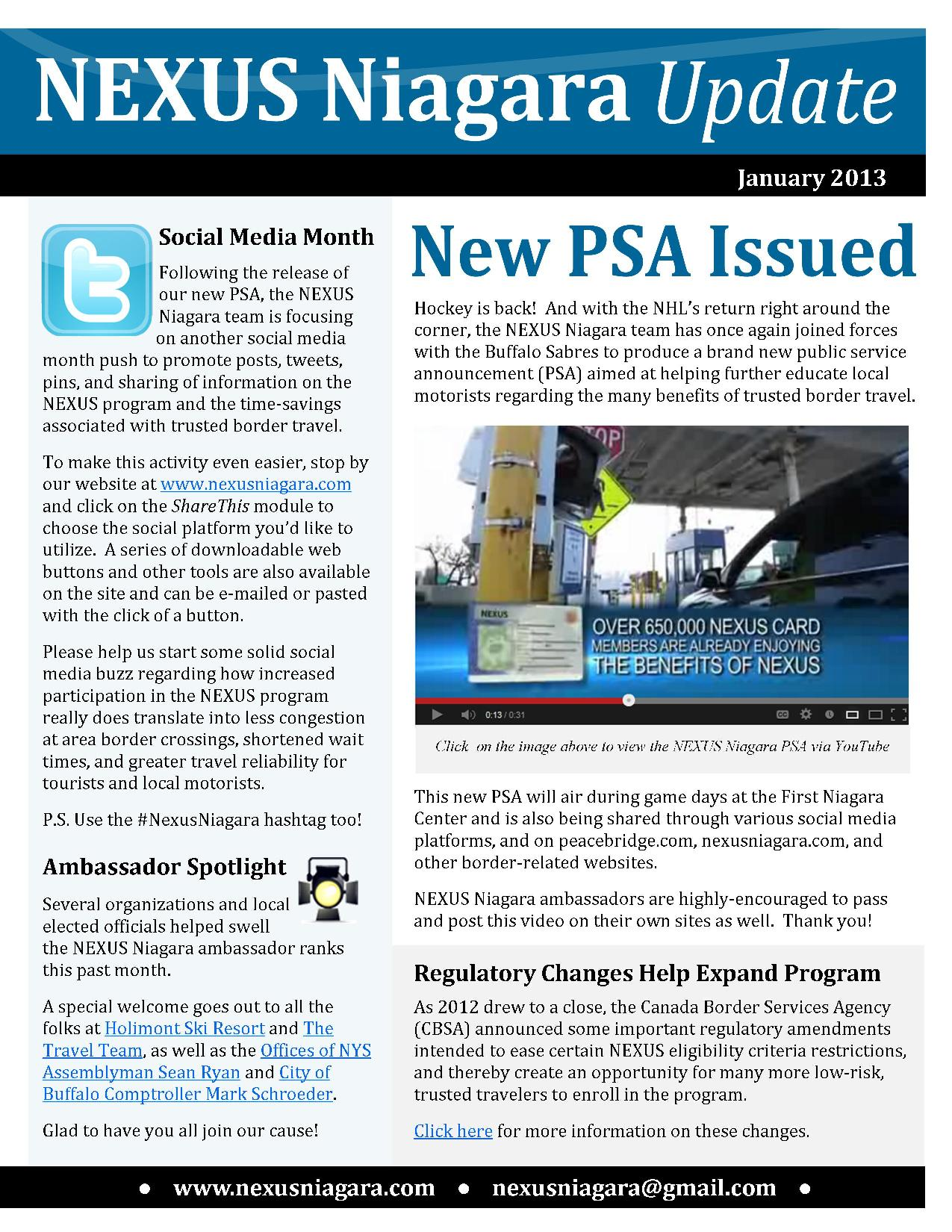 NEXUS_Niagara_Monthly_Update_-_January_2013